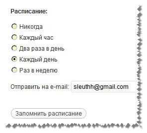 Бэкап WordPress - архивация базы данных. Плагин WordPress Database Backup