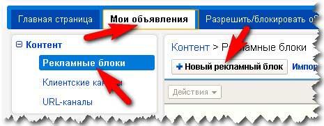 Создание рекламных блоков Google Adsense. Размещение рекламы от Google Adsense на блоге.