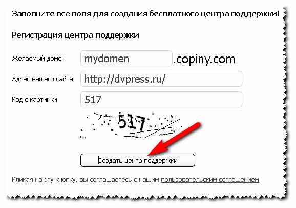 """Кнопка """"Обратная связь"""" - Сервис Copiny"""