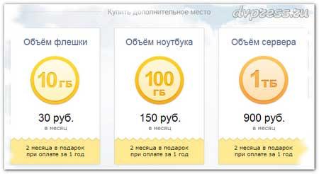 Облако Mail - один терабайт свободного места бесплатно