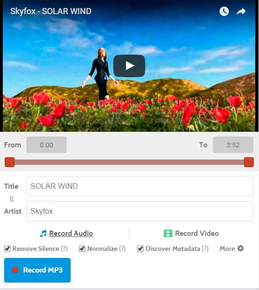 Извлекаем аудио дорожку mp3 из видео