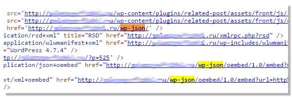 Как удалитьWP-JSON и oEmbed с сайта WordPress