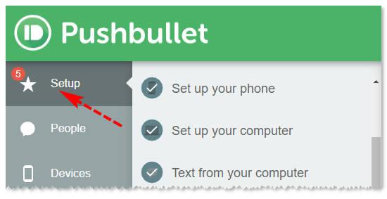 Расширение Pushbullet: