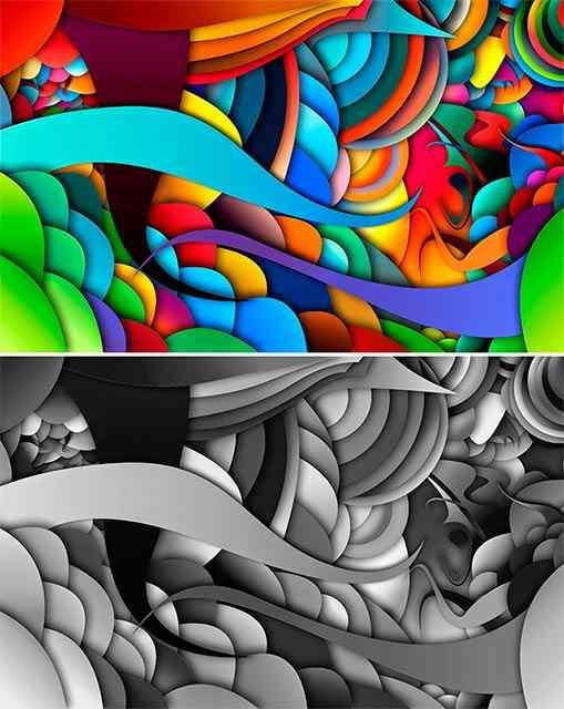 как сделать цветное изображение черно белым