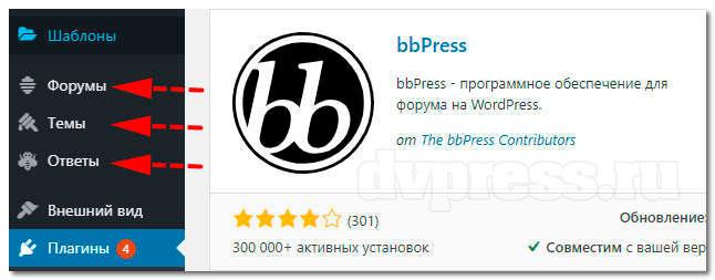 Форум на сайте WordPress