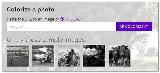 Colorize Photos как цветную картинку сделать черно белой