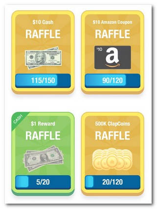 лотерейные билеты ClipClaps
