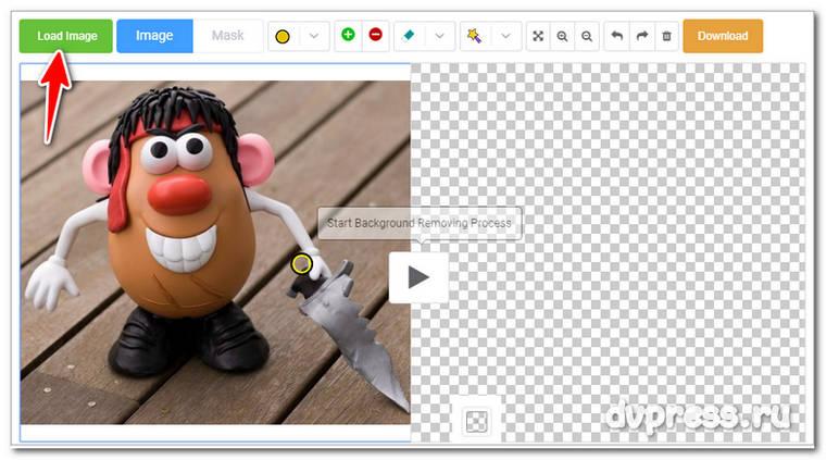 вырезать фон на фото онлайн бесплатно