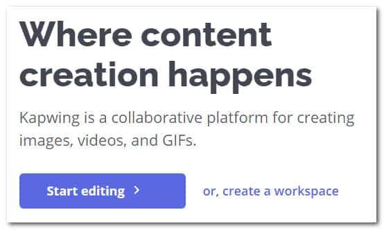 Kapwing - убрать звук с видео онлайн редактор бесплатно